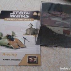 Figuras y Muñecos Star Wars: STAR WARS NAVES Y VEHICULOS CAZA A-WING Y FASCÍCULO 13 PLANETA AGOSTINI FIGURA PLOMO. Lote 168345492