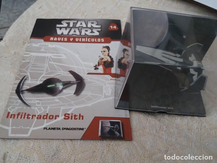 STAR WARS NAVES Y VEHICULOS INFILTRADOR SITH Y FASCÍCULO 14 PLANETA AGOSTINI FIGURA PLOMO (Juguetes - Figuras de Acción - Star Wars)