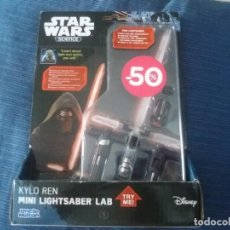 Figuras y Muñecos Star Wars: DISNEY UNCLE MILTON STAR WARS SCIENCE MINI SABLE DE LUZ EN BLISTER. Lote 168382640