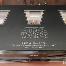 Figuras y Muñecos Star Wars: STAR WARS DELUXE 5 CLONE COMMANDERS SET GENTLE GIANT. Lote 169879345
