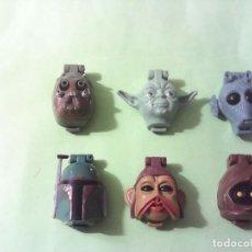 Figuras y Muñecos Star Wars: STAR WARS MICRO MACHINES CABEZAS LOTE. Lote 170532688