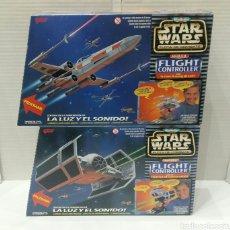 Figuras y Muñecos Star Wars: LOTE MICROMACHINES STAR WARS FLIGHT CONTROLLER. NAVE REBELDE + IMPERIAL. NUEVO EN CAJA. 1996. GALOOB. Lote 171369205