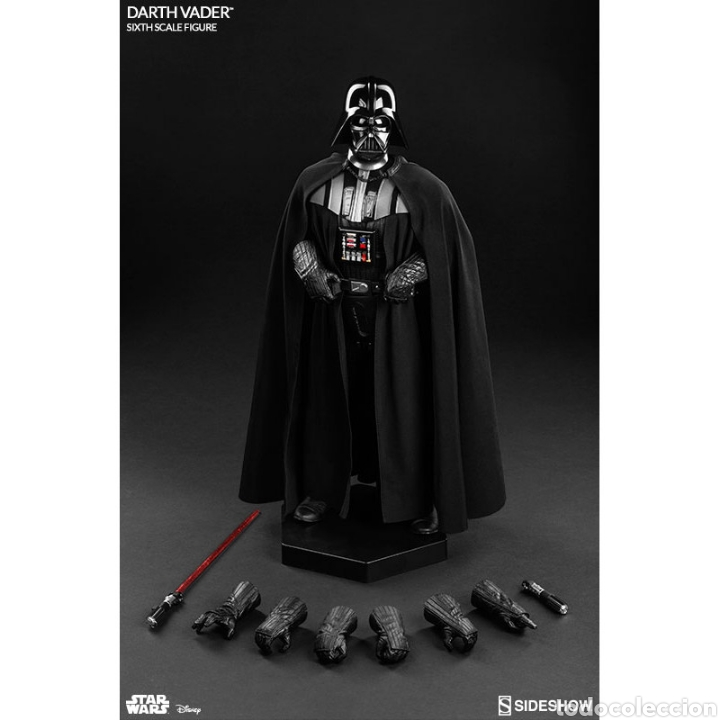 Figuras y Muñecos Star Wars: Figura Darth Vader Star Wars El Retorno del Jedi Sideshow - Foto 3 - 171652813