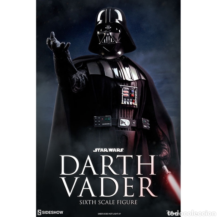 Figuras y Muñecos Star Wars: Figura Darth Vader Star Wars El Retorno del Jedi Sideshow - Foto 5 - 171652813