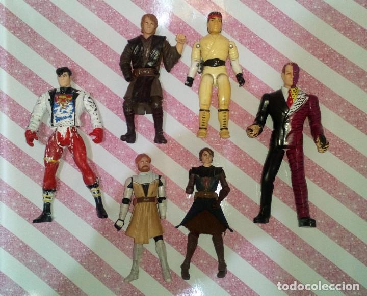 LOTE DE 6 FIGURAS CON DEFECTOS, STAR WARS, DC, G.I.JOE-STREET FIGHTER, PARA PIEZAS O REPARAR (Juguetes - Figuras de Acción - Star Wars)