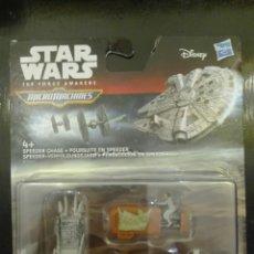 Figuras y Muñecos Star Wars: MICROMACHINES STAR WARS. PERSECUCIÓN EN SPEEDER.. Lote 173471630
