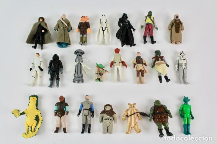 LOTE DE 21 FIGURAS STAR WARS. LFL. 1980-1986. (Juguetes - Figuras de Acción - Star Wars)