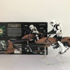 Figuras y Muñecos Star Wars: SPEEDER BIKE WITH SCOUT TROOPER HASBRO 2000 STAR WARS VINTAGE 12 PULGADAS JEDI O MEJOR OFERTA!. Lote 173859200