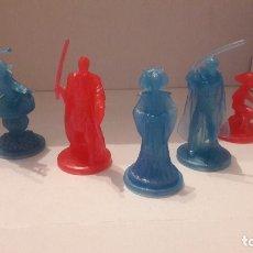 Figuras e Bonecos Star Wars: LOTE 5 FIGURAS STAR WARS PLASTICO: YODA, LUKE, OBI WAN, REBEL FLEET TROOPER, AMIDALA. TLC. LEGACY. Lote 46724237