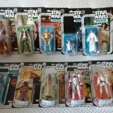 Figuras y Muñecos Star Wars: LOTE 12 MUÑECOS FIGURAS 40 ANIVERSARIO STAR WARS. Lote 174973480