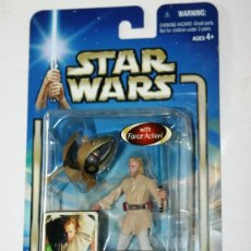 Figuras y Muñecos Star Wars: FIGURA OBI WAN KENOBI - CORUSCANT CHASE - STAR WARS - ATTACK OF THE CLONES - HASBRO KENNER VINTAGE. Lote 175296010
