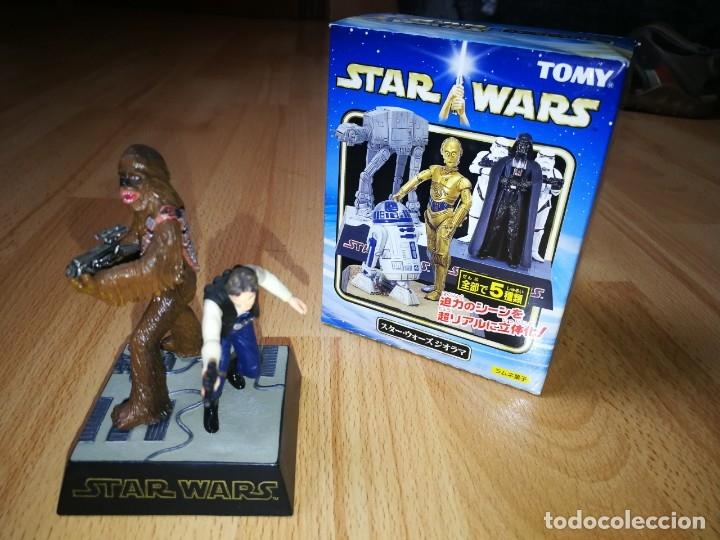 STAR WARS. DIORAMA HAN SOLO Y CHEWBACCA DE TOMY (SÓLO SE VENDE EN JAPÓN) (Juguetes - Figuras de Acción - Star Wars)