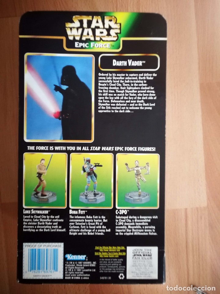 Figuras y Muñecos Star Wars: Star Wars. Figura Darth Vader 360. Epic Force de Kenner (1997) - Foto 4 - 175585612