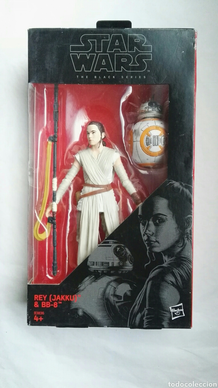 FIGURA STAR WARS THE BLACK SERIES REY (JAKKU) & BB-8 BLISTER NUEVO (Juguetes - Figuras de Acción - Star Wars)