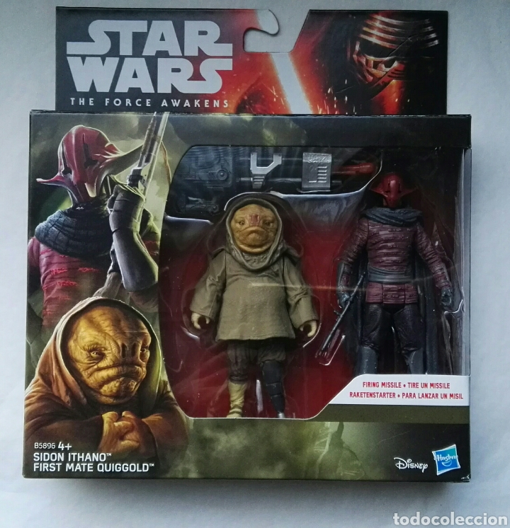 FIGURAS STAR WARS THE FORCE AWAKENS SIDON ITHANO FIRTS MATE QUIGGOLD (Juguetes - Figuras de Acción - Star Wars)
