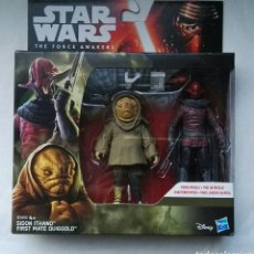 Figuras y Muñecos Star Wars: FIGURAS STAR WARS THE FORCE AWAKENS SIDON ITHANO FIRTS MATE QUIGGOLD. Lote 176704555