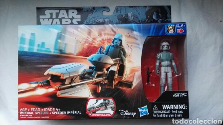 STAR WARS IMPERIAL SPEEDER BLISTER NUEVO (Juguetes - Figuras de Acción - Star Wars)