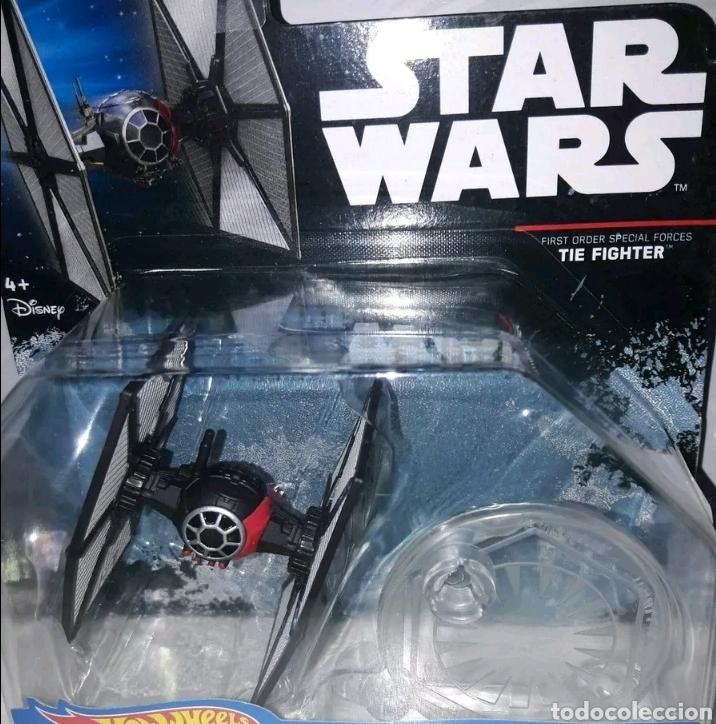 NAVE ESPACIAL HOT WHEELS TIE FIGHTER STAR WARS FIRST ORDER SPECIAL FORCES Y EL TIE FIGHTER NORMAL (Juguetes - Figuras de Acción - Star Wars)