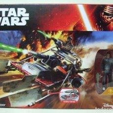 Figuras y Muñecos Star Wars: DESERT LANDSPEEDER + FIGURA FINN ( JAKKU ) - STAR WARS THE FORCE AWAKENS DISNEY HASBRO VEHÍCULO. Lote 176973779