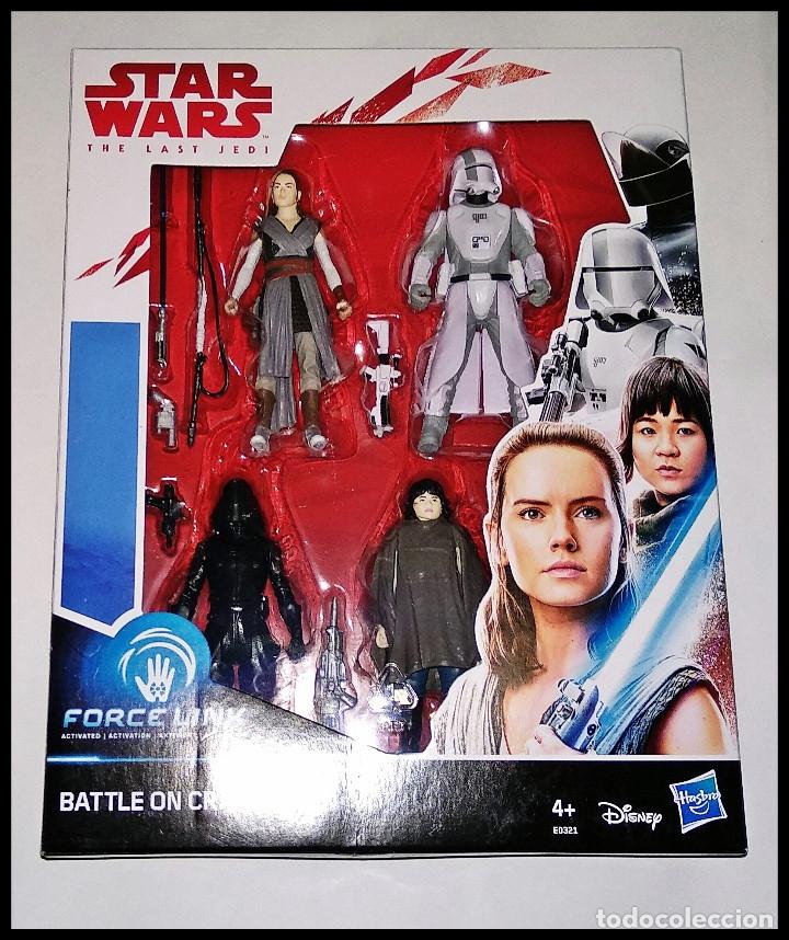 STAR WARS, SET DE 4 FIGURAS, PACK FORCE LINK, BATTLE ON CRAIT. NUEVO DE HASBRO. (Juguetes - Figuras de Acción - Star Wars)