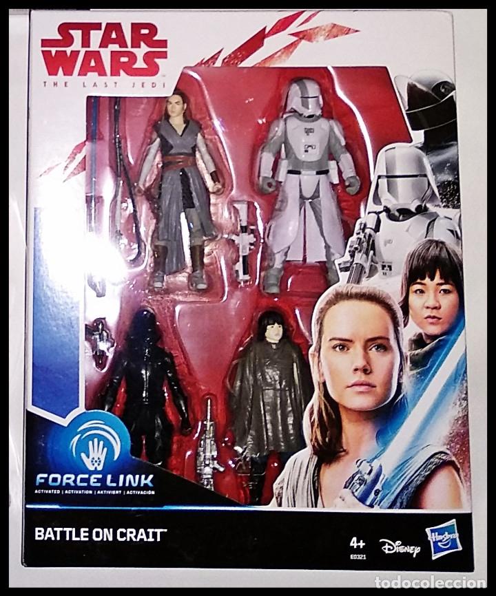 STAR WARS, SET DE 4 FIGURAS, PACK FORCE LINK, BATTLE ON CRAIT. NUEVO EN SU CAJA ORIGINAL DE HASBRO. (Juguetes - Figuras de Acción - Star Wars)