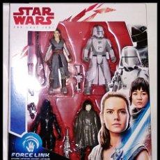 Figuras y Muñecos Star Wars: STAR WARS, SET DE 4 FIGURAS, PACK FORCE LINK, BATTLE ON CRAIT. NUEVO EN SU CAJA ORIGINAL DE HASBRO.. Lote 177834698
