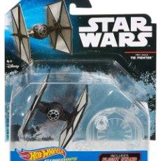 Figuras y Muñecos Star Wars: LOTE MAQUETA DEL ESPACIO - NAVE NUEVA STAR WARS DE HOT WHEELS - TIE FIGHTER FIRST ORDER . Lote 178210231