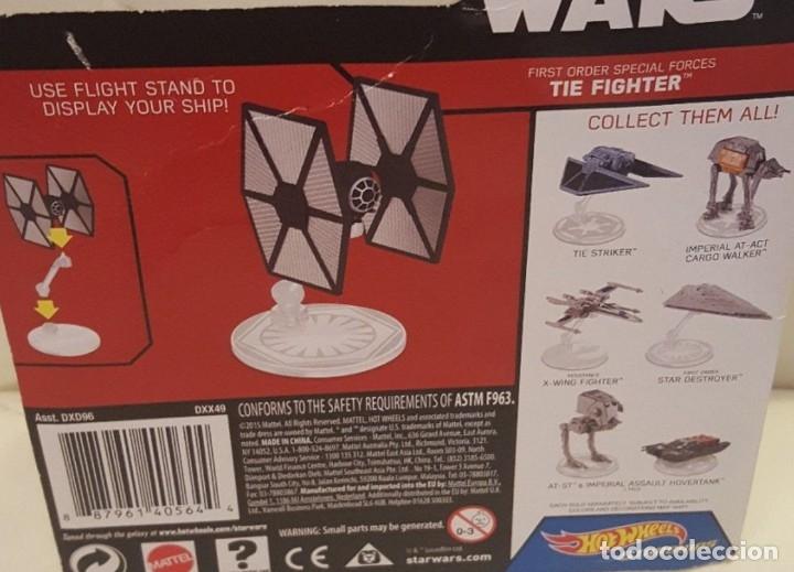 Figuras y Muñecos Star Wars: LOTE MAQUETA DEL ESPACIO - NAVE NUEVA STAR WARS DE HOT WHEELS - TIE FIGHTER FIRST ORDER - Foto 2 - 178210391