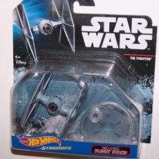 Figuras y Muñecos Star Wars: LOTE MAQUETA DEL ESPACIO - NAVE NUEVA STAR WARS DE HOT WHEELS - TIE FIGHTER. Lote 178210513