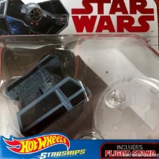 Figuras y Muñecos Star Wars: LOTE MAQUETA DEL ESPACIO - NAVE NUEVA STAR WARS DE HOT WHEELS - TIE ADVANCED X1 DARTH VADERS. Lote 178210648
