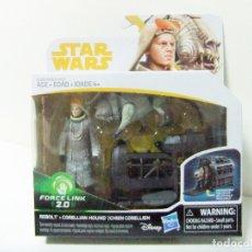 Figuras y Muñecos Star Wars: PACK FIGURA REBOLT + CORELLIAN HOUND HAN SOLO A STAR WARS STORY HASBRO JAULA PERRO CORELIANO 3,75. Lote 178302030