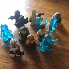 Figuras y Muñecos Star Wars: STAR WARS FIGHTER PODS - 14 FIGURITAS DE GOMA. Lote 179028055