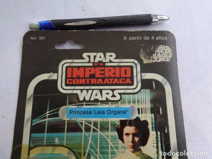 Figuras y Muñecos Star Wars: Figura Star Wars en blister - El imperio contraataca - Leia Organa -Poch - PBP - ESB 31 back - Foto 6 - 203950340