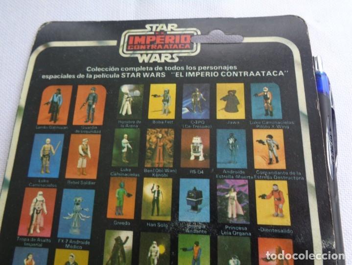 Figuras y Muñecos Star Wars: Figura Star Wars en blister - El imperio contraataca - Leia Organa -Poch - PBP - ESB 31 back - Foto 5 - 203950340