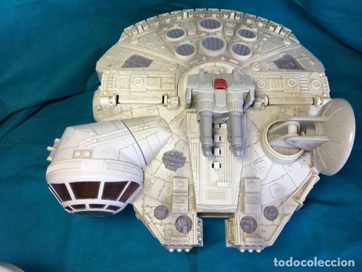 Figuras y Muñecos Star Wars: NAVE HALCON MILENARIO PLAYSKOOL DISTRIBUIDO POR HASBRO 2001 - Foto 2 - 179325938