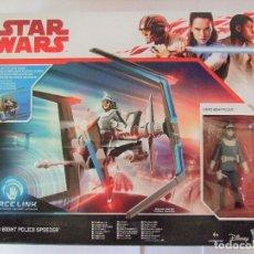 Figuras y Muñecos Star Wars: NAVE CANTO BIGHT POLICE SPEEDER + FIGURA - STAR WARS LAST JEDI DISNEY HASBRO LOS ÚLTIMOS JEDI. Lote 179398081