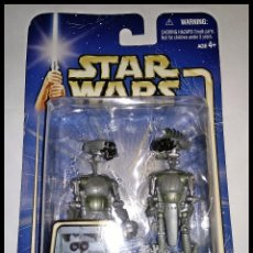 Figuras y Muñecos Star Wars: STAR WARS # SP-4 Y JN-66 # ATTACK OF THE CLONES - NUEVO EN SU BLISTER ORIGINAL DE HASBRO.. Lote 179545035