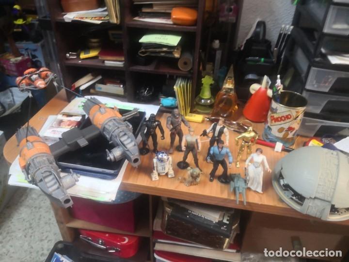 LOTE STAR WARS 9 FIGURAS KENNER 1 PARTE NAVE LEWIS GALOOB Y 1 NAVE HASBRO (Juguetes - Figuras de Acción - Star Wars)