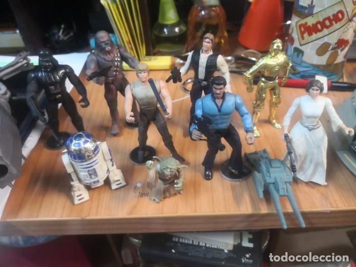 Figuras y Muñecos Star Wars: Lote star wars 9 FIGURAS KENNER 1 PARTE NAVE LEWIS GALOOB Y 1 NAVE HASBRO - Foto 3 - 180082831