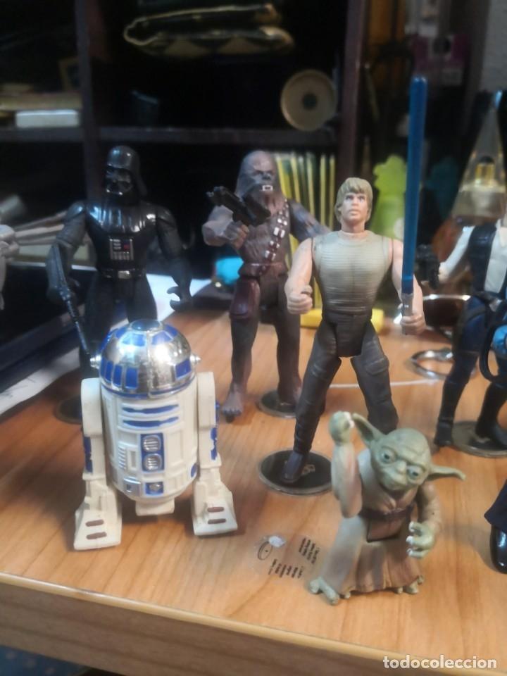 Figuras y Muñecos Star Wars: Lote star wars 9 FIGURAS KENNER 1 PARTE NAVE LEWIS GALOOB Y 1 NAVE HASBRO - Foto 4 - 180082831