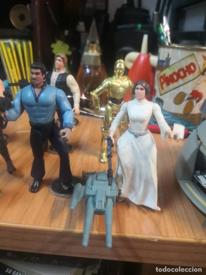 Figuras y Muñecos Star Wars: Lote star wars 9 FIGURAS KENNER 1 PARTE NAVE LEWIS GALOOB Y 1 NAVE HASBRO - Foto 5 - 180082831
