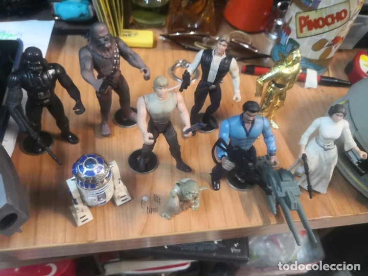 Figuras y Muñecos Star Wars: Lote star wars 9 FIGURAS KENNER 1 PARTE NAVE LEWIS GALOOB Y 1 NAVE HASBRO - Foto 9 - 180082831