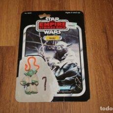Figuras y Muñecos Star Wars: FIGURA YODA COMPLETO ORIGINAL LFL 1980 HONG KONG STAR WARS KENNER VINTAGE CARTÓN . Lote 180429362