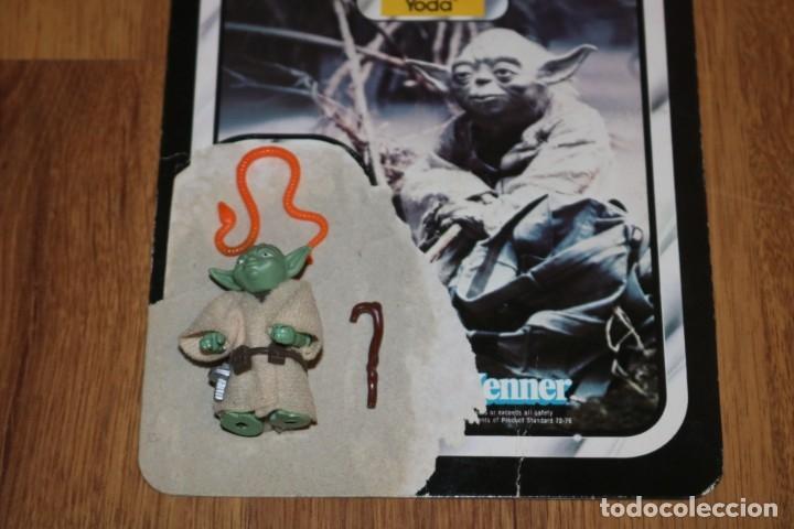 Figuras y Muñecos Star Wars: Figura Yoda completo original LFL 1980 Hong Kong Star Wars Kenner vintage cartón - Foto 2 - 180429362