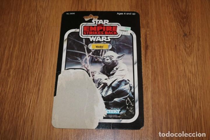 Figuras y Muñecos Star Wars: Figura Yoda completo original LFL 1980 Hong Kong Star Wars Kenner vintage cartón - Foto 3 - 180429362