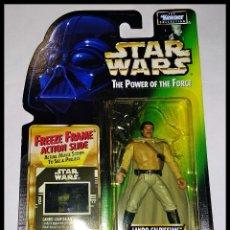 Figuras y Muñecos Star Wars: STAR WARS # LANDO CALRISSIAN # THE POWER OF THE FORCE - NUEVO EN SU BLISTER ORIGINAL DE KENNER.. Lote 181215558