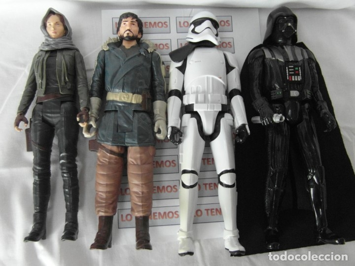LOTE DE 4 FIGURAS DE STAR WARS,DART VADER,JYN ERSON,CAPITAN CASSIAN ,STORMTROOPER SEGEANT (Juguetes - Figuras de Acción - Star Wars)