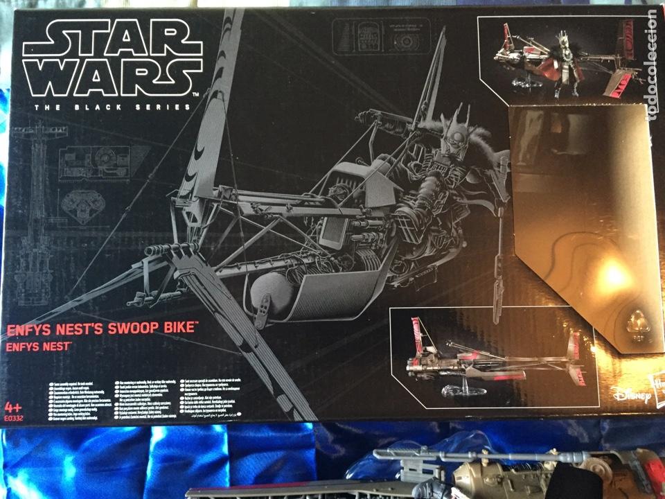 Figuras y Muñecos Star Wars: Enfys Nests Swoop Bike Star Wars Black Series como nuevo - Foto 4 - 181538096