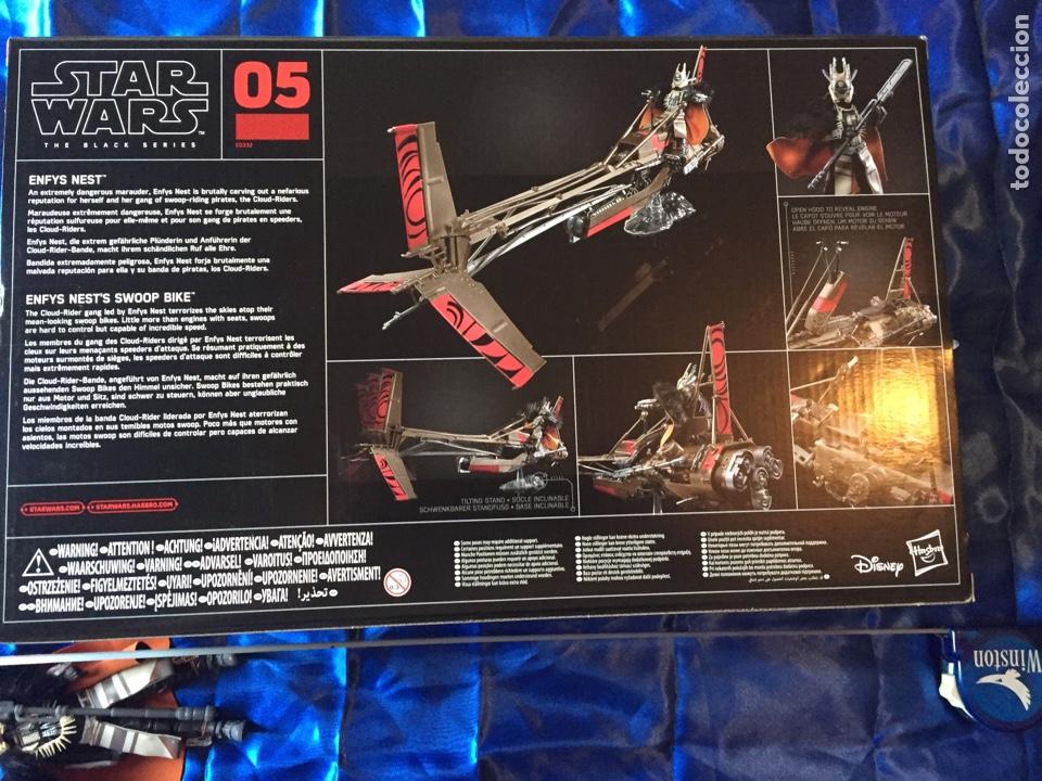 Figuras y Muñecos Star Wars: Enfys Nests Swoop Bike Star Wars Black Series como nuevo - Foto 7 - 181538096