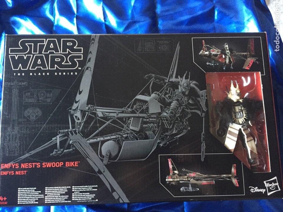ENFYS NESTS SWOOP BIKE STAR WARS BLACK SERIES COMO NUEVO (Juguetes - Figuras de Acción - Star Wars)